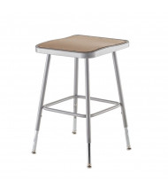 "NPS 19"" - 27"" Height Adjustable Square Science Lab Stool"