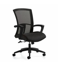 Global Vion 6321-4C Weight-Sensing Tilter Mesh-Back High-Back Task Chair, Black