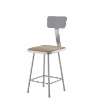 "NPS 24"" H Square Science Lab Stool, Backrest"