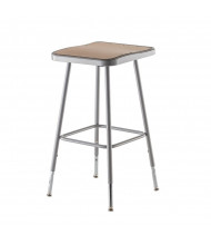"NPS 25"" - 33"" Height Adjustable Square Science Lab Stool"