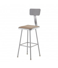 "NPS 30"" H Square Science Lab Stool, Backrest"