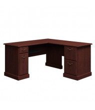 """Bush Syndicate 6330 60"""" W L-Shaped Straight Front Office Desk, Right Return (Shown in Harvest Cherry)"""