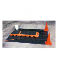 Ultratech 6351 Replacement 8 ft. x 8 ft. Tarp for Non-Ambulatory Decon Decks, Black (shown part of decontamination system)