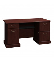"""Bush Syndicate 6360 60"""" W Straight Front Double Pedestal Desk (Shown in Harvest Cherry)"""