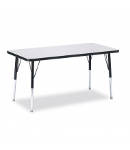"Jonti-Craft Berries 48"" x 24"" Rectangle Classroom Activity Table (Shown in Grey / Black)"