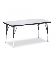 "Jonti-Craft Berries 48"" x 24"" Elementary Rectangle Classroom Activity Table  (Shown in Grey / Black)"