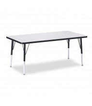 "Jonti-Craft Berries 60"" x 30"" Elementary Rectangle Classroom Activity Table (Shown in Grey / Black)"