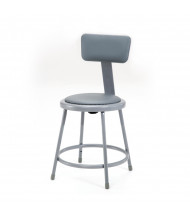 """NPS 18"""" H Padded Round Science Lab Stool, Backrest"""