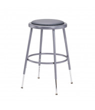 "NPS 19"" - 27"" Height Adjustable Padded Round Science Lab Stool"
