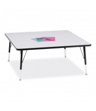 "Jonti-Craft Berries 48"" x 48"" Elementary Square Classroom Activity Table (Shown in Grey / Black)"