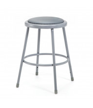 "NPS 24"" H Padded Round Science Lab Stool"