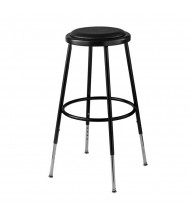 "NPS 25"" - 33"" Height Adjustable Vinyl Padded Science Lab Stool, Black"