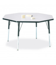 "Jonti-Craft Berries 48"" x 48"" Elementary Octagon Classroom Activity Table (Shown in Grey / Black)"
