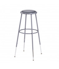 "NPS 31"" - 39"" Height Adjustable Padded Round Science Lab Stool"