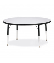 "Jonti-Craft Berries 48"" D Round Elementary Classroom Activity Table (Shown in Grey/Black)"