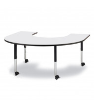 """Jonti-Craft Berries 66"""" W x 60"""" D Horseshoe-Shaped Mobile Classroom Activity Table (Shown in Grey/Black)"""