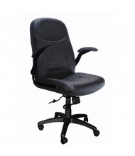 Mayline 6446AGL Big & Tall 500 lb. Pivot-Arm Genuine Leather High-Back Executive Office Chair