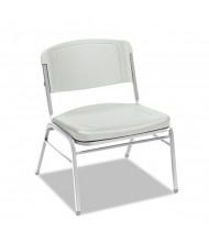 Iceberg Rough N Ready 4-Pack 500 lb. Polyethylene Stacking Chair. Shown in White