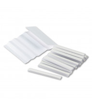 """Mayline Mailflow-To-Go  Mailroom System 3"""" x 0.375"""" Adhesive Label Holders, Clear, 20/Pack"""
