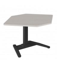"""Mayline LT 25"""" - 41.5"""" H Electric Height Adjustable Corner Standing Desk (Speckled Grey)"""