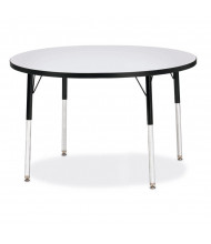 "Jonti-Craft Berries 42"" D Round Classroom Activity Table (Shown in Grey / Black)"