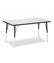 "Jonti-Craft Berries 48"" x 30"" Rectangle Classroom Activity Table (Shown in Grey / Black)"