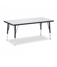 "Jonti-Craft Berries 36"" x 24"" Elementary Rectangle Classroom Activity Table (Shown in Grey / Black)"