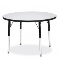 "Jonti-Craft Berries 36"" D Round Classroom Activity Table (Shown in Grey / Black)"
