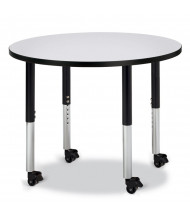 "Jonti-Craft Berries 36"" D Mobile Round Classroom Activity Table (Shown in Grey / Black)"