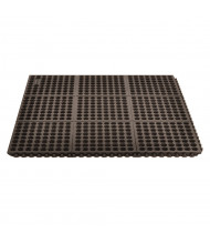 NoTrax 650 Niru Cushion-Ease 3' x 5' Rubber Modular Fire Retardant Anti-Fatigue Floor Mat, Black