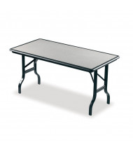 "Iceberg IndestrucTable 65127 72"" W x 30"" D Plastic Folding Table"