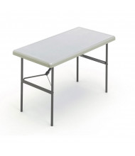 "Iceberg IndestrucTable Too 24"" x 48"" Heavy Duty Folding Table (Shown in Platinum)"