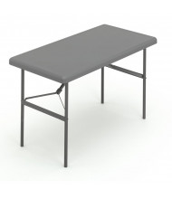 "Iceberg IndestrucTable Too 24"" x 48"" Heavy Duty Folding Table. Shown in Charcoal"