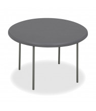 "Iceberg IndestrucTable Too 48"" Round Heavy Duty Folding Table (Shown in Charcoal)"