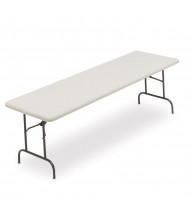 "Iceberg IndestrucTable Too 65333 96"" W x 30"" D Light-Duty Plastic Folding Table"