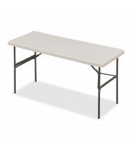 "Iceberg IndestrucTable Too 60"" W x 24"" D Heavy-Duty Plastic Folding Table (Shown in Platinum)"