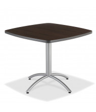 """Iceberg CafeWorks 36"""" Square Cafe Table (Shown in Walnut)"""