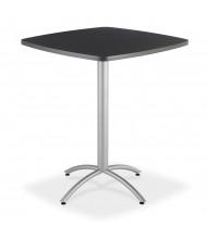 "Iceberg CafeWorks 36"" Square Bistro Table Shown in Graphite Granite"