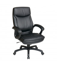 Office Star Work Smart Two-Tone Eco-Leather High-Back Executive Office Chair (Shown in Black)