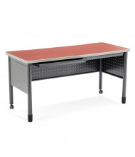 "OFM Mesa 66150 59"" W x 27.75"" D Training Table with Drawers (Shown in Cherry)"