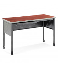 "OFM Mesa 59"" W x 27.75"" D Standing Height Training Table with Drawers (Shown in Cherry)"