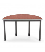 "OFM Mesa 66180 48"" W x 24"" D Half-Round Training Table (Shown in Cherry)"