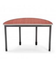 "OFM Mesa 66180 48"" W x 24"" D Half-Round Training Table (cherry)"