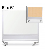 Best-Rite Porcelain/Decorative Laminate 6 x 6 D.O.C. Mobile Divider Reversible