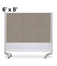 Best-Rite Decorative Laminate 6 x 8 D.O.C. Mobile Divider Reversible, Pewter Mesh