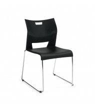 Global Duet 6621 Polypropylene Stacking Chair, Armless (Shown in Black)