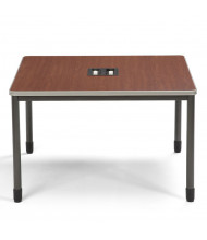 "OFM Mesa 66248 48"" W Square Media Terminal Training Table (Shown in Cherry)"