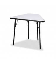 Jonti-Craft Berries Height Adjustable Trapezoid Student Desk - Shown in Grey