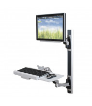 "Balt HG 66644 Single Monitor Adjustable Wall Mount Workstation, Up to 24"" (example of use)"