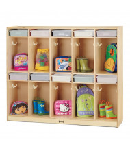 Jonti-Craft Take Home Center 10-Section Cubbie Coat Locker with Clear Paper-Trays